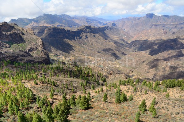 山 風景 表示 空 自然 ストックフォト © hamik