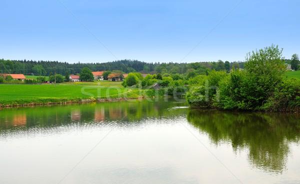 области пруд Открытый фото мнение зеленый Сток-фото © hamik