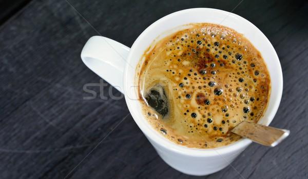 Koffiekopje top witte beker bruin Stockfoto © hamik