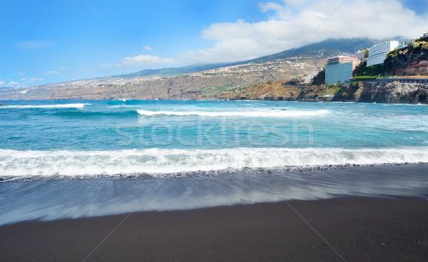 La strand stad tenerife Spanje hemel Stockfoto © hamik