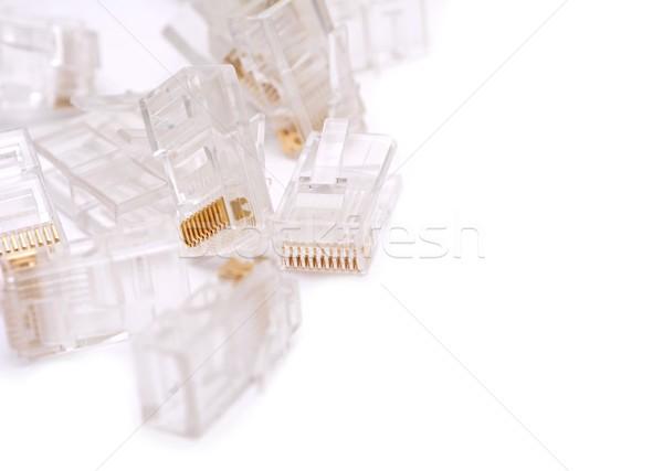 RJ45 installing connectors Stock photo © hamik
