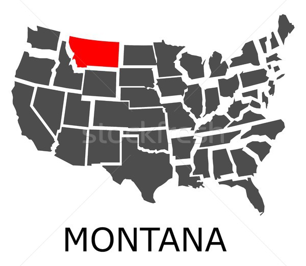 Montana carte USA rouge couleur Voyage Photo stock © hamik