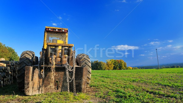 Digger on the field Stock photo © hamik