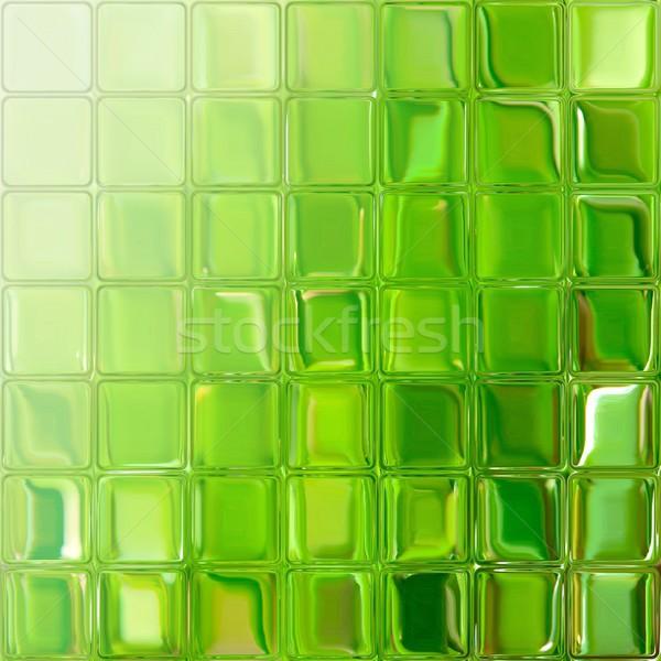 Zöld üveg csempék fényes színes kockák Stock fotó © hamik