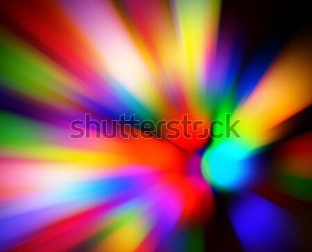 ぼやけた 色 ライト ズーム ぼけ味 黒 ストックフォト © hamik