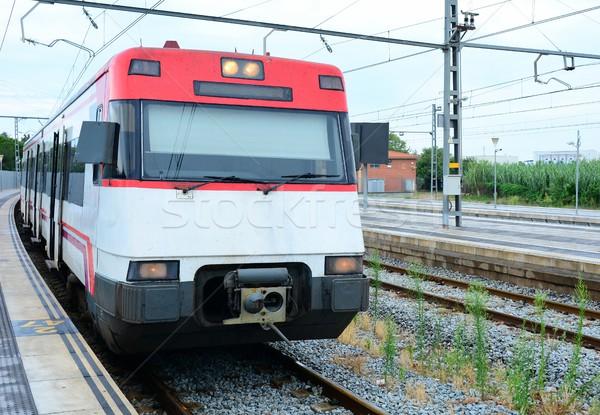 Train at platform Stock photo © hamik