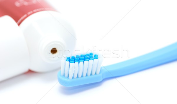 Toothbrush and toothpaste Stock photo © hamik