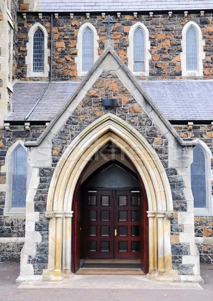 Церкви вход неизвестный дверей здании Сток-фото © hamik