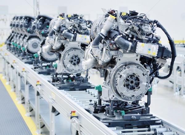 Novo linha fábrica carro tecnologia Foto stock © hamik