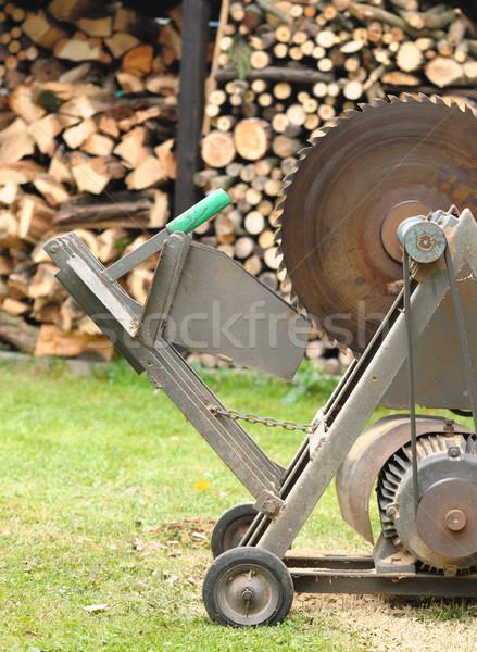 Rundschreiben sah Arbeit Technologie Garten Werkzeuge Stock foto © hamik