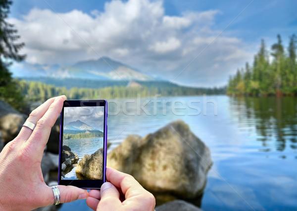 写真 表示 携帯電話 表示 画像 ストックフォト © hamik