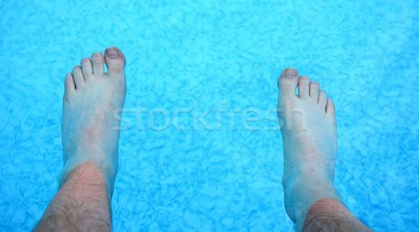 Refreshing feet in a pool Stock photo © hamik