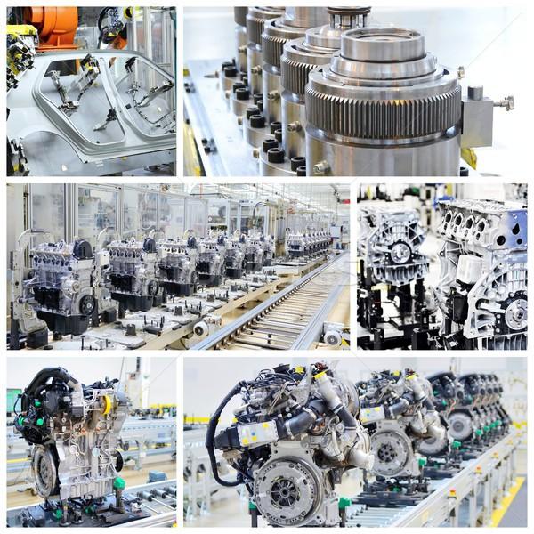 Car factory collage Stock photo © hamik