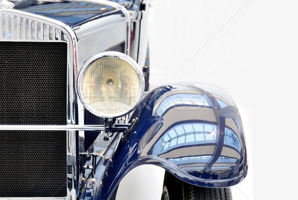 Kék régi autó elöl kilátás klasszikus klasszikus Stock fotó © hamik