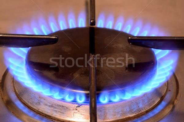 ガス ストーブ クローズアップ ショット 火災 キッチン ストックフォト © hamik
