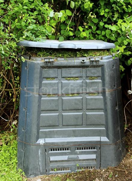 Tároló öreg koszos rohadt fű Föld Stock fotó © hamik