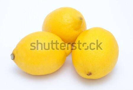 Tre limoni isolato alimentare gruppo tropicali Foto d'archivio © hamik