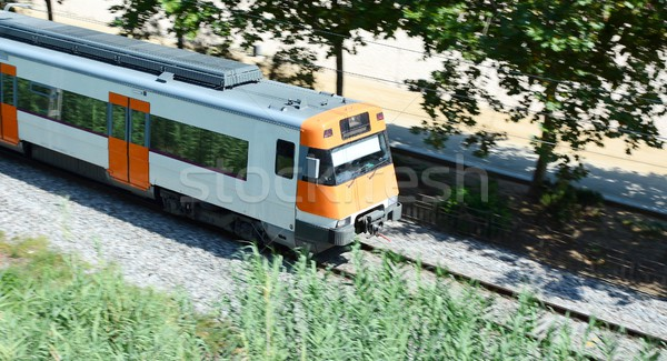 Passing train Stock photo © hamik