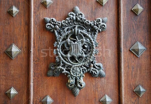 中世 ドア 古い 城 チェコ共和国 金属 ストックフォト © hamik