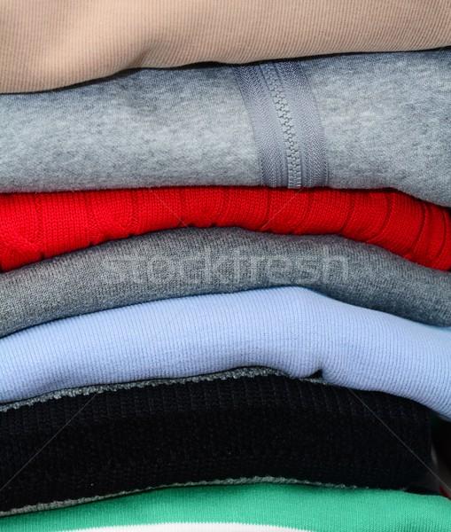 スタック 服 ワードローブ 背景 青 ストックフォト © hamik