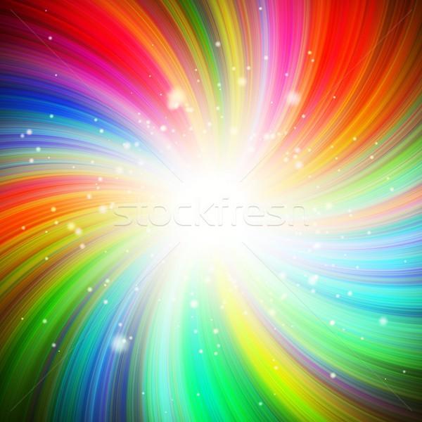 Couleur tourbillon résumé coloré blanche réflexion Photo stock © hamik