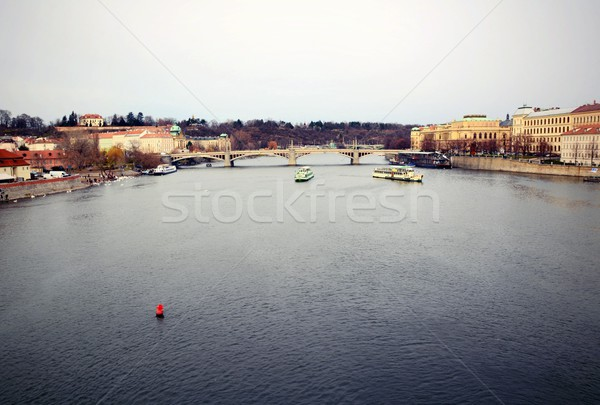 View of the Vltava river in Prague Stock photo © hamik