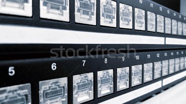 Cat5e patch panel ports Stock photo © hamik