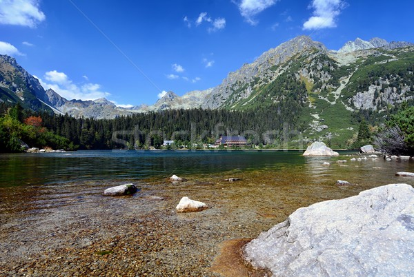 Popradske pleso lake Stock photo © hamik