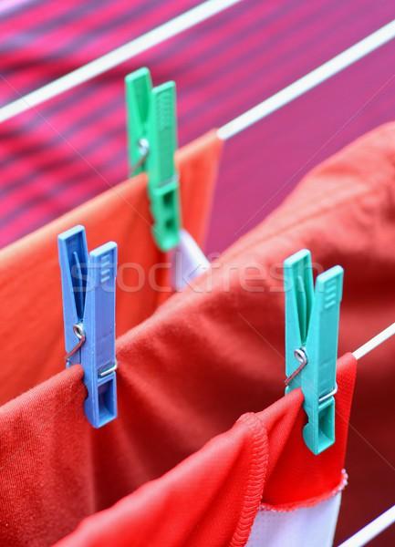 赤 ぬれた 服 太陽 色 ストックフォト © hamik