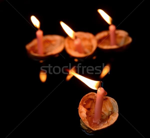 Natale candela tradizioni decorazione candele acqua Foto d'archivio © hamik