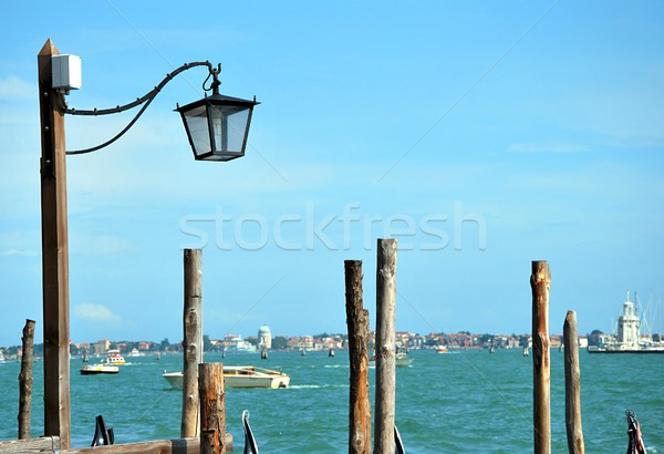 The detail of port and lamp.  Stock photo © hamik