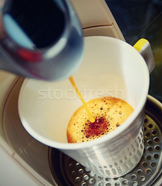 Fresh espresso coffee Stock photo © hamik
