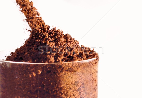 растворимый кофе стекла белый пить свежие Сток-фото © hamik