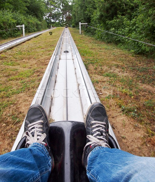Bobsled track Stock photo © hamik