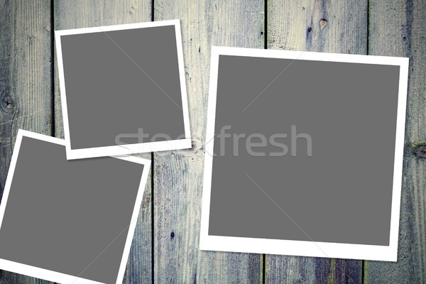 Foto quadros três vintage branco Foto stock © hamik