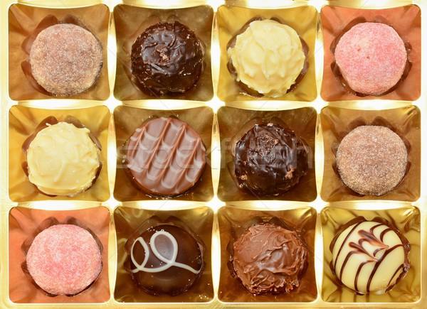 先頭 表示 チョコレート ボックス 甘い ストックフォト © hamik