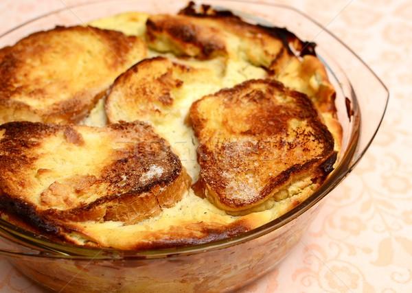 Typique tchèque gâteau fromages pommes Photo stock © hamik
