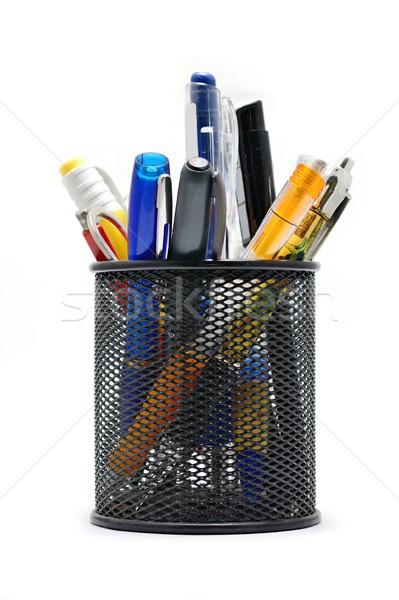 オフィス ポット 黒 鉛筆 ペン 白 ストックフォト © hamik