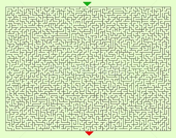 Hard Square Maze Template Stock photo © hamik