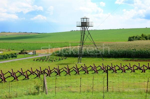военных защита мнение линия границе Сток-фото © hamik