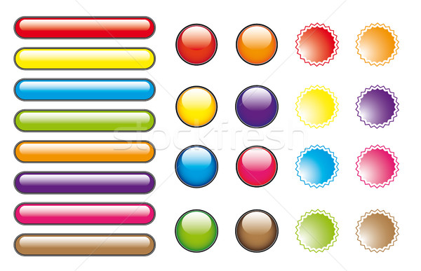 Stock photo: Color buttons