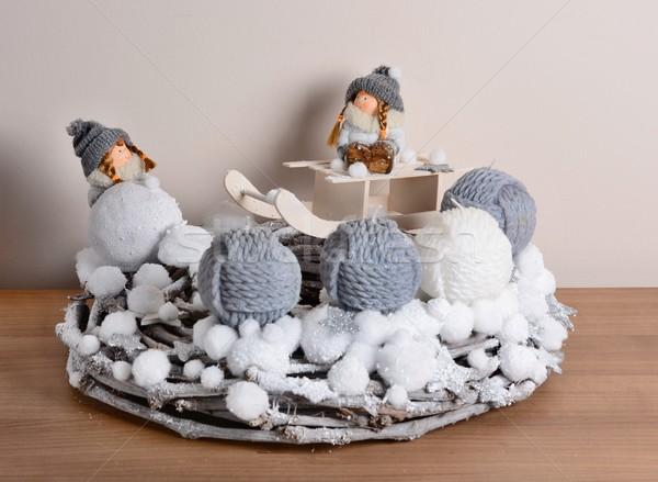 Рождества украшение интерьер домой таблице ребенка Сток-фото © hamik