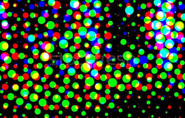 Simple medios tonos efecto textura resumen verde Foto stock © hamik