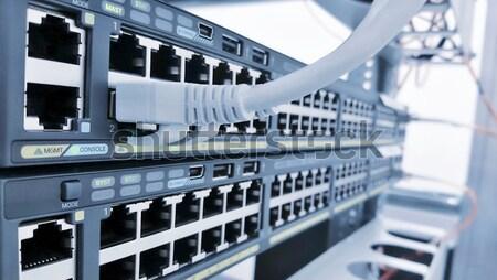 Ethernet netwerk connectiviteit kabel schakelaar Stockfoto © hamik