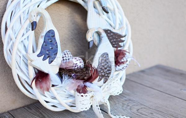 Páscoa coroa decoração caseiro decorado tabela Foto stock © hamik