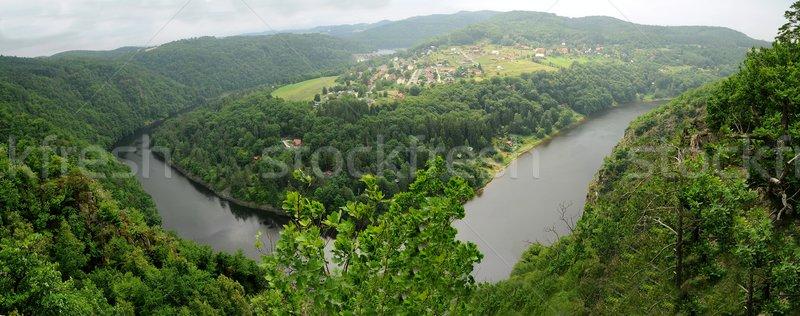 Panorama of Vltava river. Stock photo © hamik