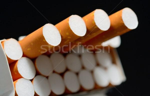 Pack sigarette primo piano shot bianco nero Foto d'archivio © hamik