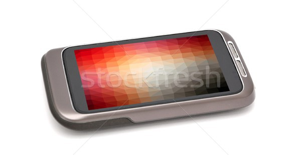 Smartphone with colorful screen wallpaper Stock photo © hamik