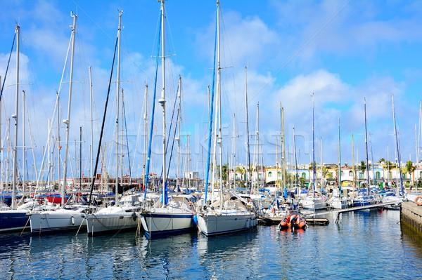 Barcos porta água verão viajar Foto stock © hamik