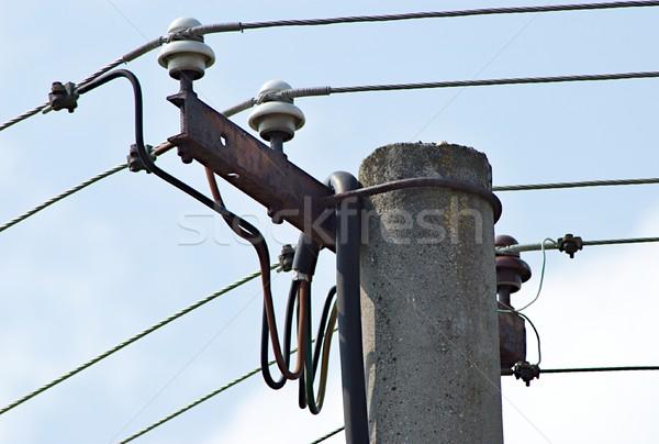 власти полюс подробность изображение фон металл Сток-фото © hamik